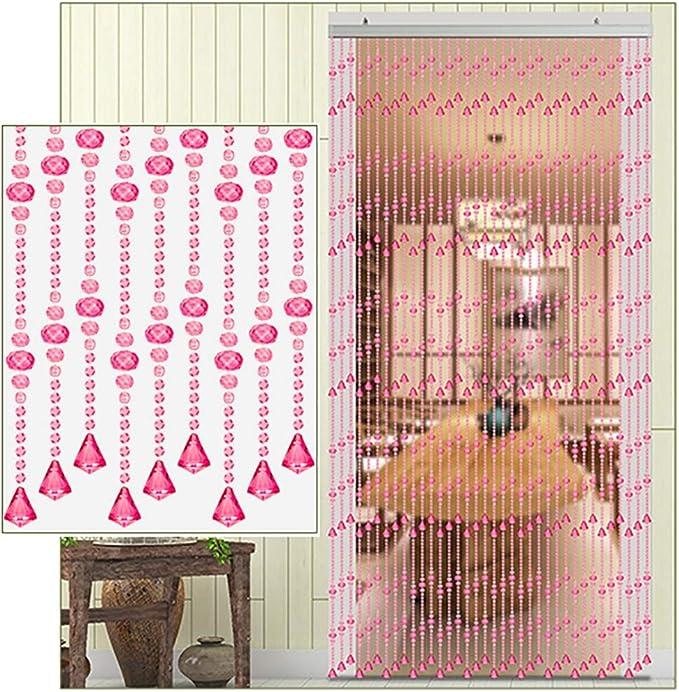 GuoWei-Cortinas de Cuentas Plástico Puerta Cortina Salón ...