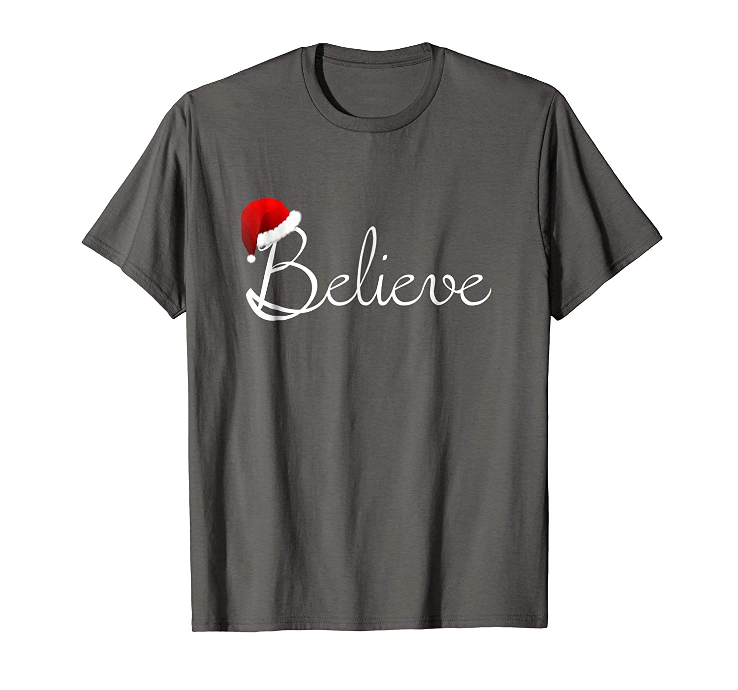 Amazon.com: Believe Christmas Shirt - Best Santa Christmas Tee: Clothing