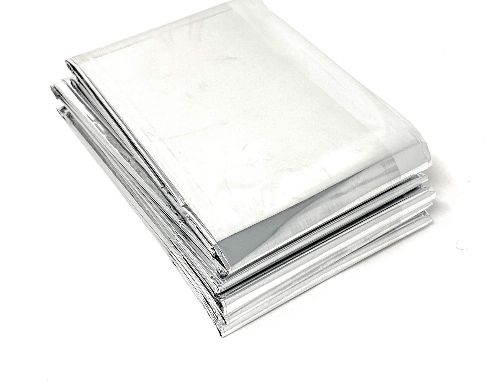 "Lot of 50 Emergency Foil Mylar Thermal Blanket , 52"" x 84"", Useful for Homeless care , Charity,natural disasters…"
