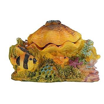 Kaiki Shell Decoración Paisaje piscina, Cartoon resina castillo castillo de acuarios decoración acuario pecera Torre: Amazon.es: Productos para mascotas