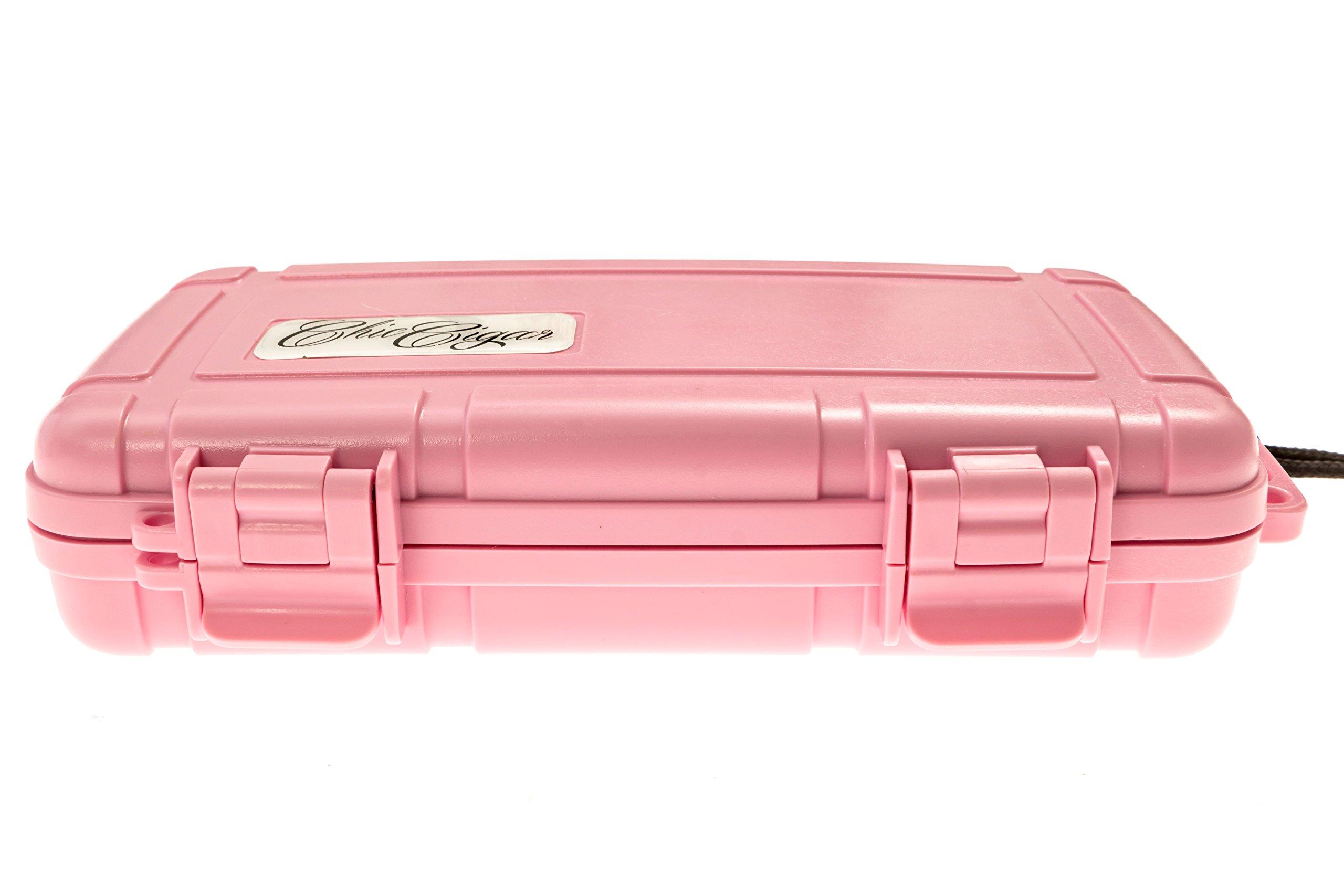 Chic Cigar Travel Humidor Case - Pink (5 Cigar) (Pink)