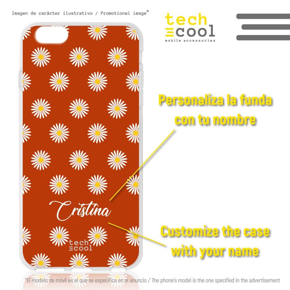 Funnytech/® Funda Silicona para Samsung Galaxy J7 2016 Primavera Mini-Margaritas Transparente Personalizable Gel Silicona Flexible, Dise/ño Exclusivo