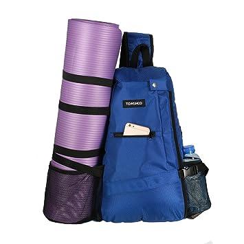 ac22730eeb94 TOMSHOO Yoga Backpack 30L Multi Purpose Yoga Sling Backpack Crossbody Bag  Yoga Mat Carrier Bag for