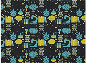 carmaxs Education Kids Puzzles 500 Piece, Science Class Themed Biology Chemistry and Physics Protons Neutrons, Turquoise Yellow Black