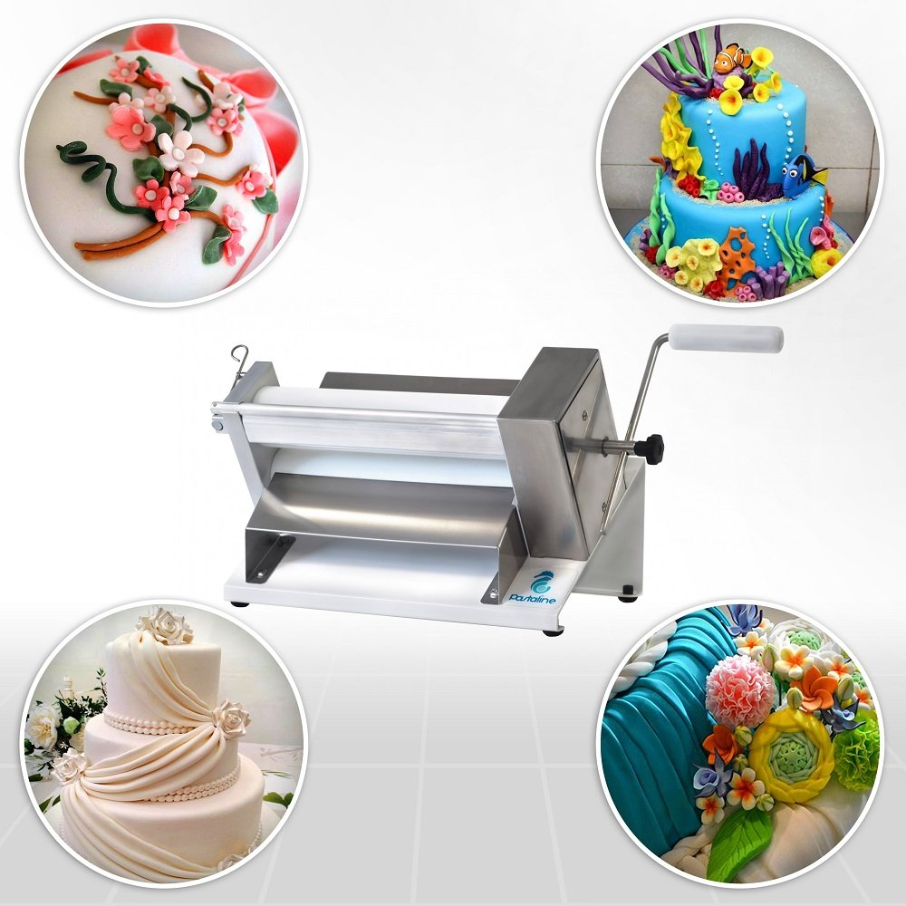 Sfogliafacile Maxi DOUGH SHEETER The Ideal Manual Machine for Working not only Sugar Paste and Modelling Chocolate ,but also Fresh Pasta and Flaky or Short Crust Pastry