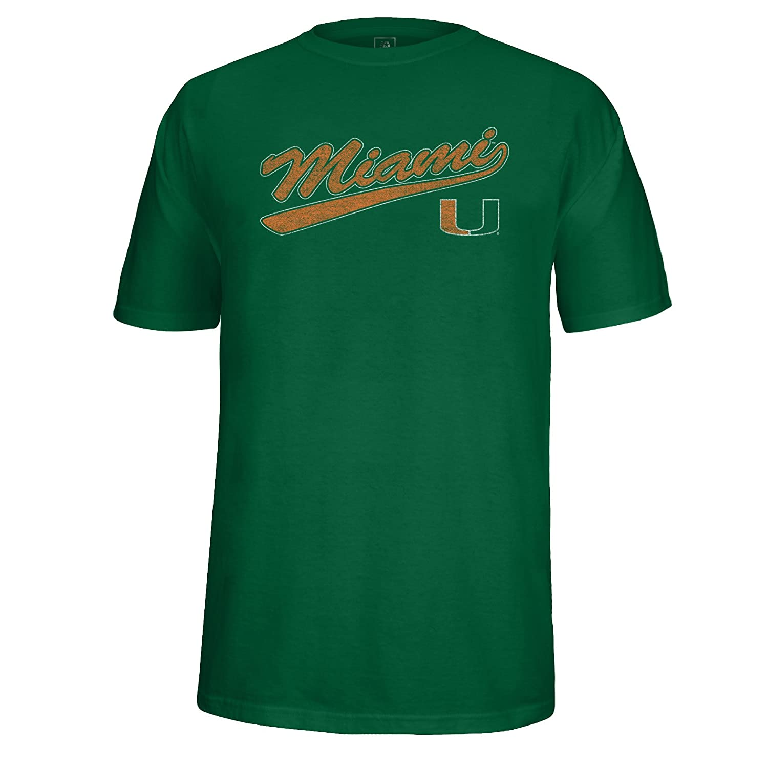 Green Medium NCAA Mens School Name Script Tail Logo Choice Tee