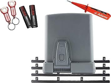 Sommer STArter 4026 - Motor de puerta corredera (400 kg, con barra de dientes de plástico, 2 transmisores manuales con remolque ADAMS 3in1BN y comprobador de corriente ADAMS): Amazon.es: Bricolaje y herramientas