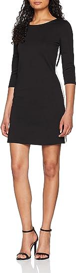 TALLA 42 (Talla del fabricante: X-Large). Only Vestido para Mujer Negro (Black Detail: Cloud Dancer Panel) 42 (Talla del fabricante: X-Large)