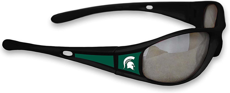 Michigan State Spartans Black Plastic Frame Classic Sunglasses with Logo