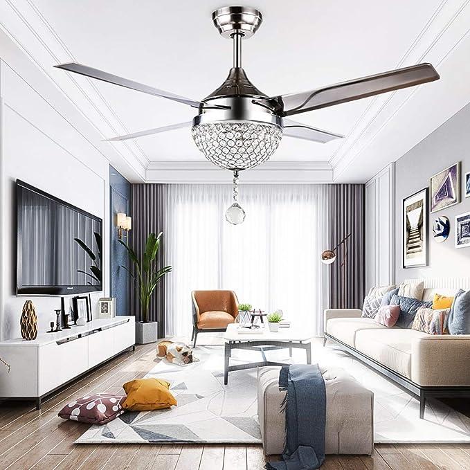 RGB LED ceiling fan corridor radiator lamp glass fan remote control DIMMER