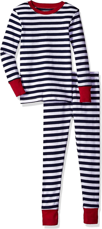 Essentials Boys Long-Sleeve Tight-fit 2-Piece Pajama Set