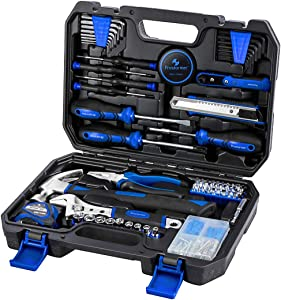 120-Piece Home Repair Tool Set - PROSTORMER General Household DIY Tool Kit with Tool Box Storage Case for House, Office, Dorm and Apartment
