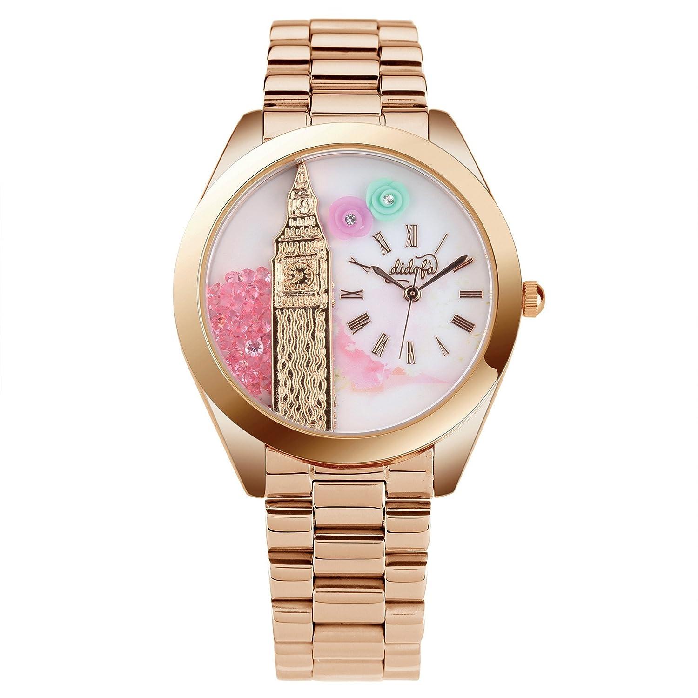 DidofÀ 3D Damen-Armbanduhr Analog Quarz DF-1001GR