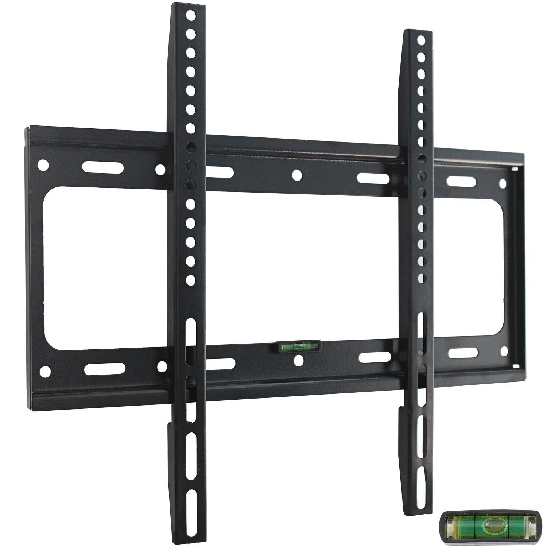Ultra Slim TV Wall Mount Bracket for 32 37 39 40 42 43 46 48 50 51 55 inch Flat LCD LED Plasma HDTV Smart TV, Max VESA 400x400mm, Bubble Level Included by Sunnyfair