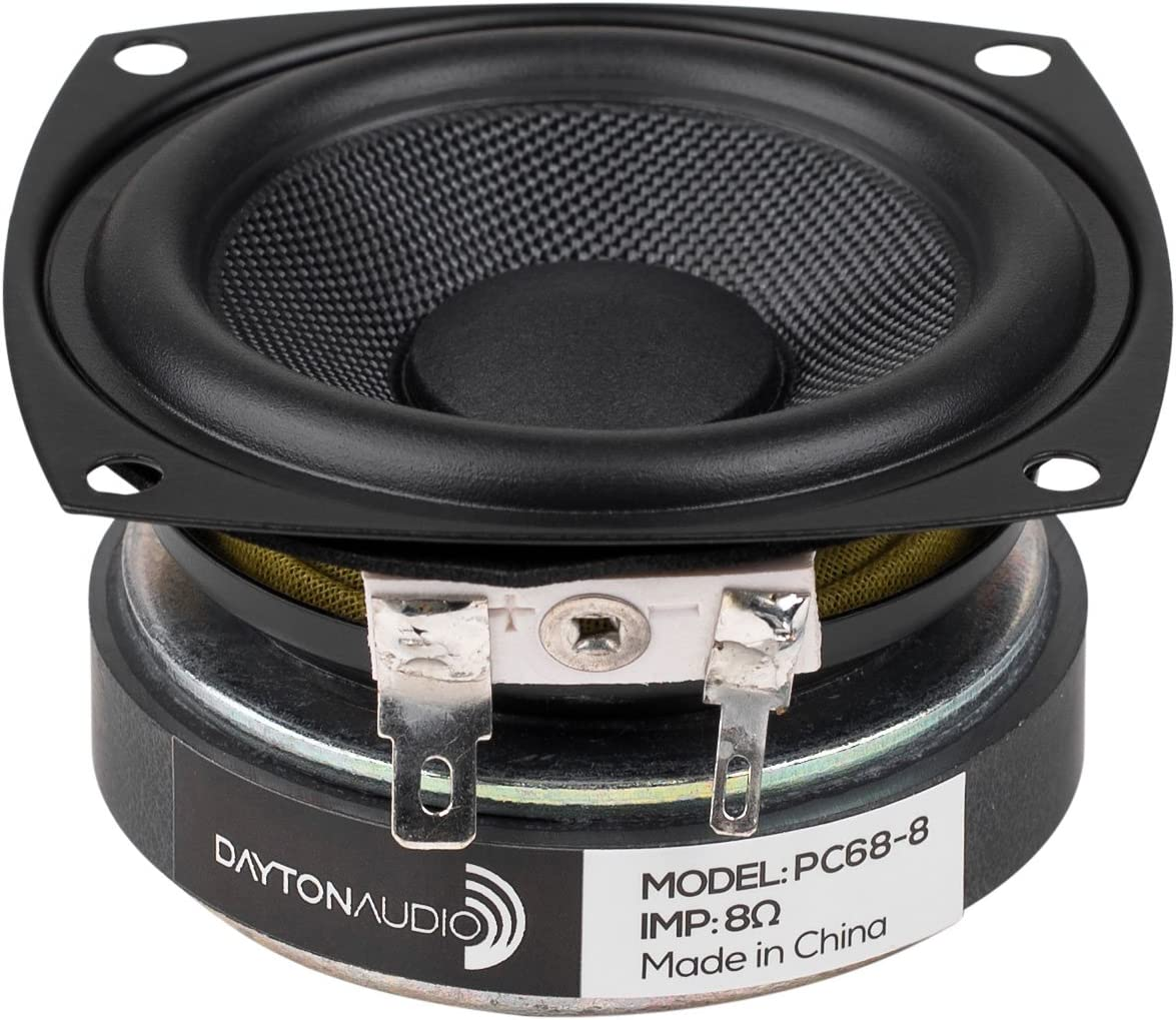"Dayton Audio PC68-8 2-1/2"" Full-Range Poly Cone Driver"