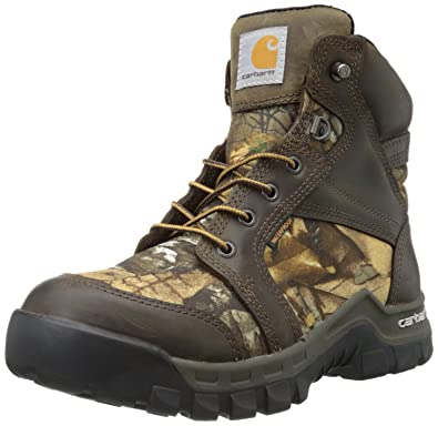 779c6a5d3912f Carhartt Men's CMF6175 Soft Toe Boot,Brown Oil Tanned Leather/Realtree  Extra Camo Nylon