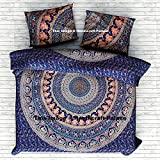 Exclusive Elephant Mandala DUVET COVER WITH PILLOWCASES By ''Handicraftspalace, Ombre mandala quilt cover, Donna Cover Indian Blanket Set