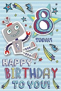 Age 8 Boy Birthday Card