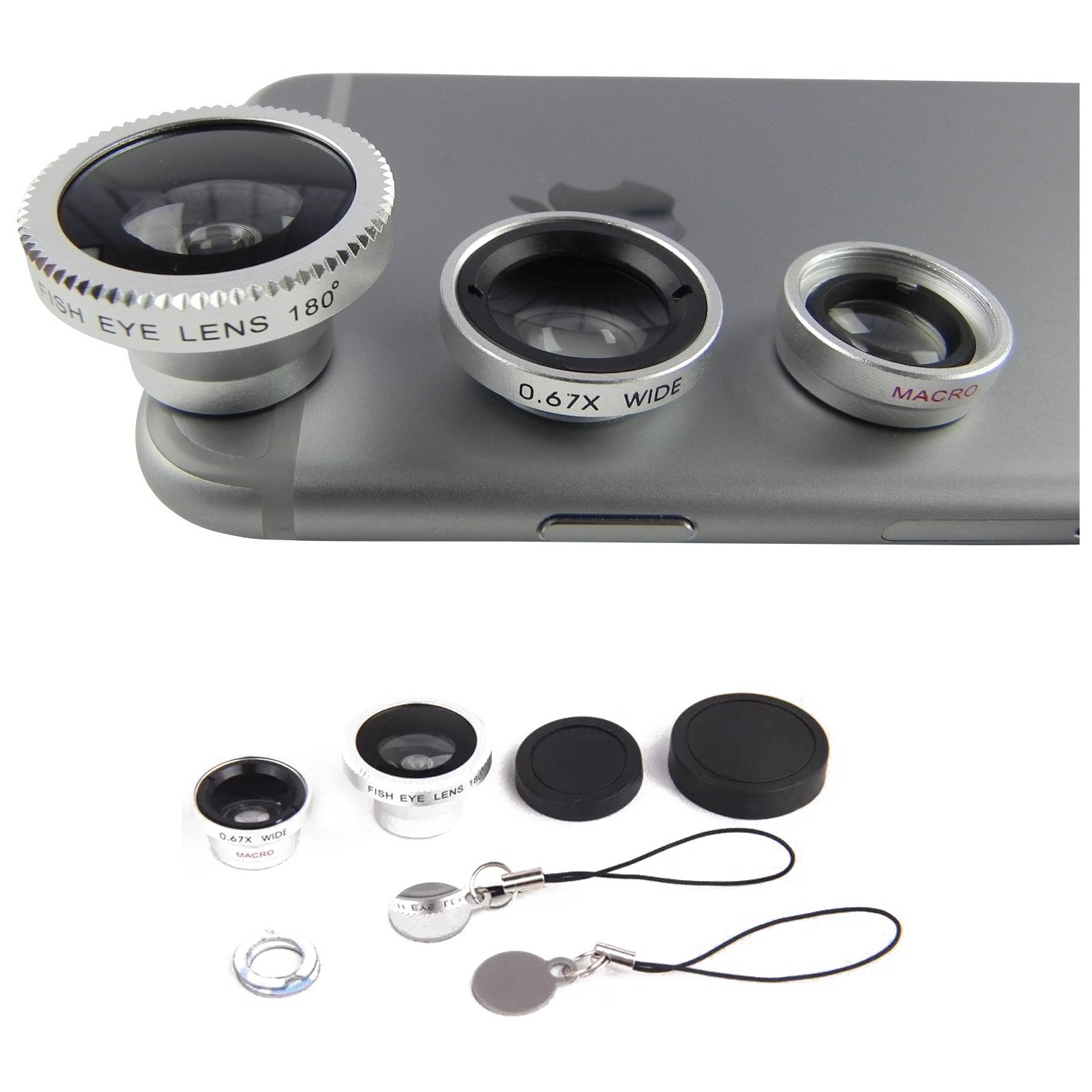 /Periscope Lens Wide Angle and 180//° Fisheye Macro Lens Magnetic Smartphone Lens Kit x4/