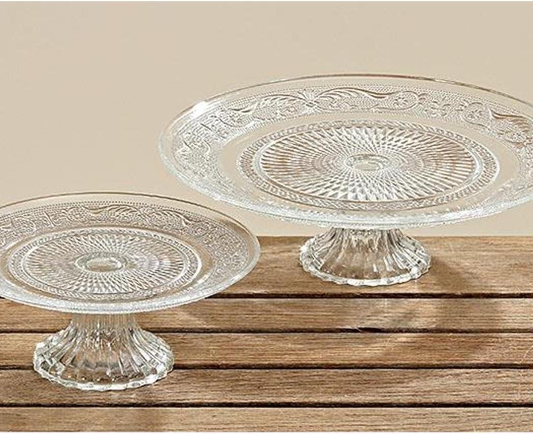 transparent Tortenplatte Kuchenplatte Glas Höhe: 11.5 cm Ø 31 cm