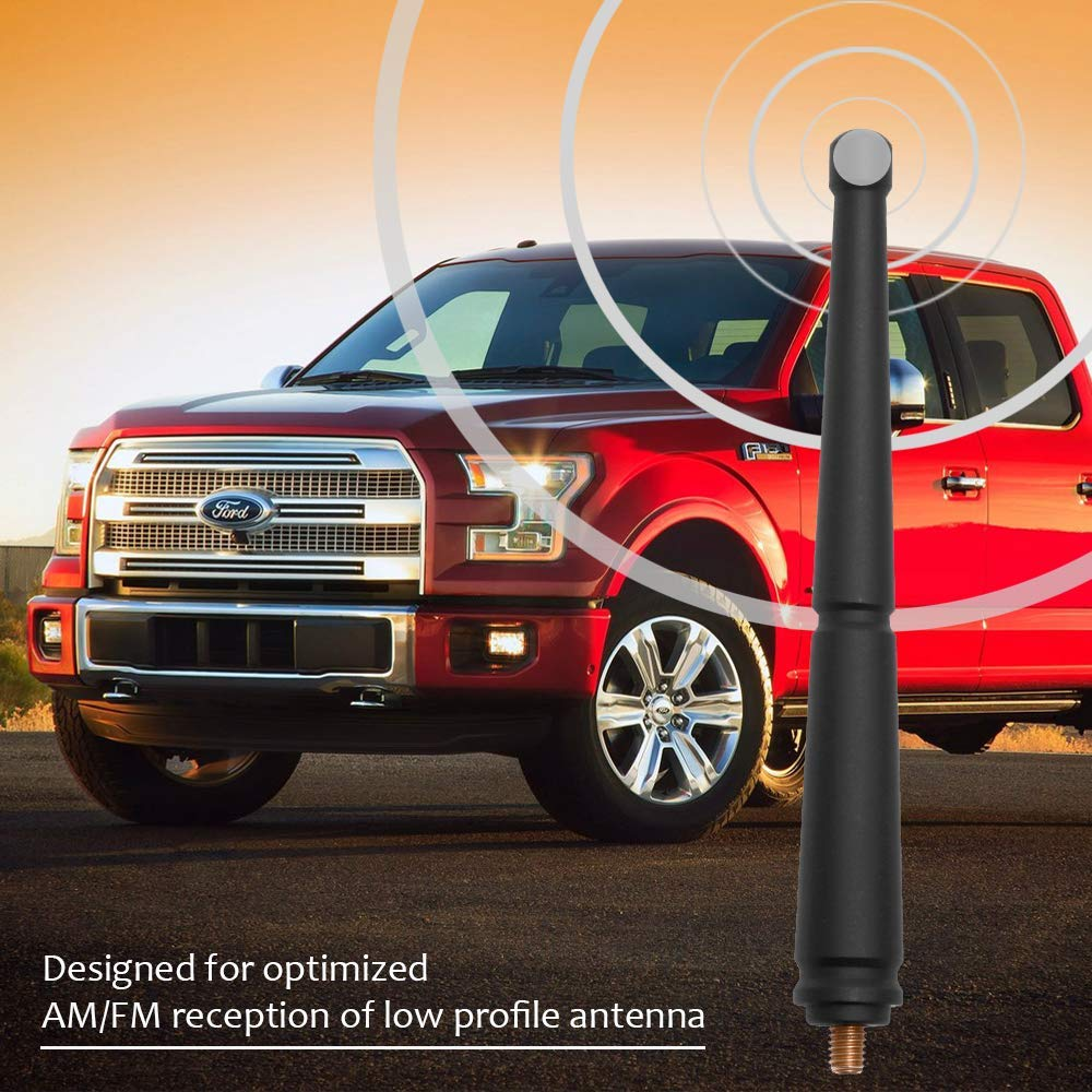 KSaAuto Copper Antenna for Ford F150 2009-2020 Designed for Optimized FM//AM Reception 6.5 Inches Spiral Rubber Antenna Mast Replacement