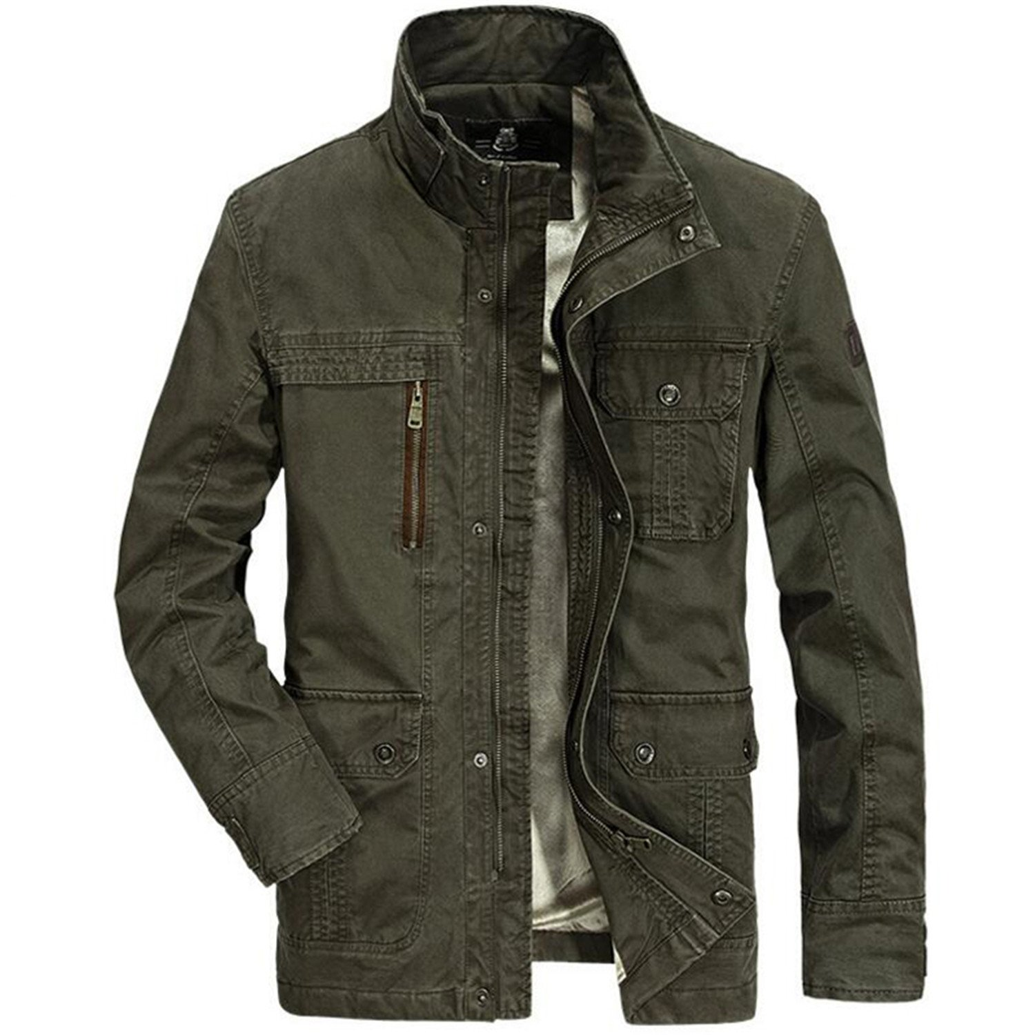 Olive Tayl Jacket Men Brand Coats Male Army Military Jacket Men Plus Size 4XL Multi-pockets Fleece Thick Warm at Amazon Mens Clothing store: