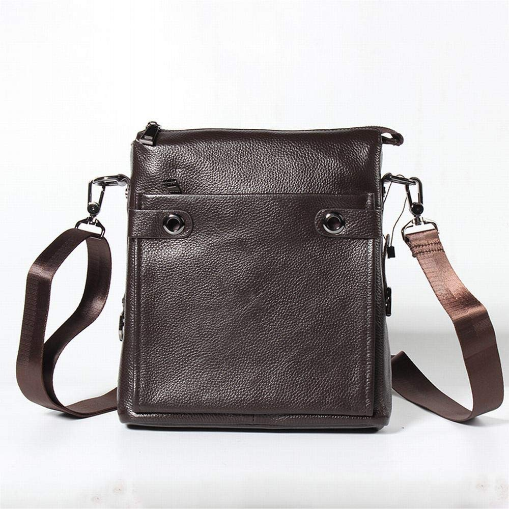 Lokijuge Leather Shoulder Shoulder Bag Leather Casual Messenger Bag Men Color : Brown