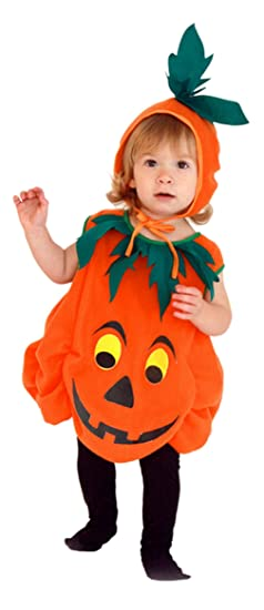 baby kids pumpkin halloween costumes role play toddlers cosplay party jumpsuit small