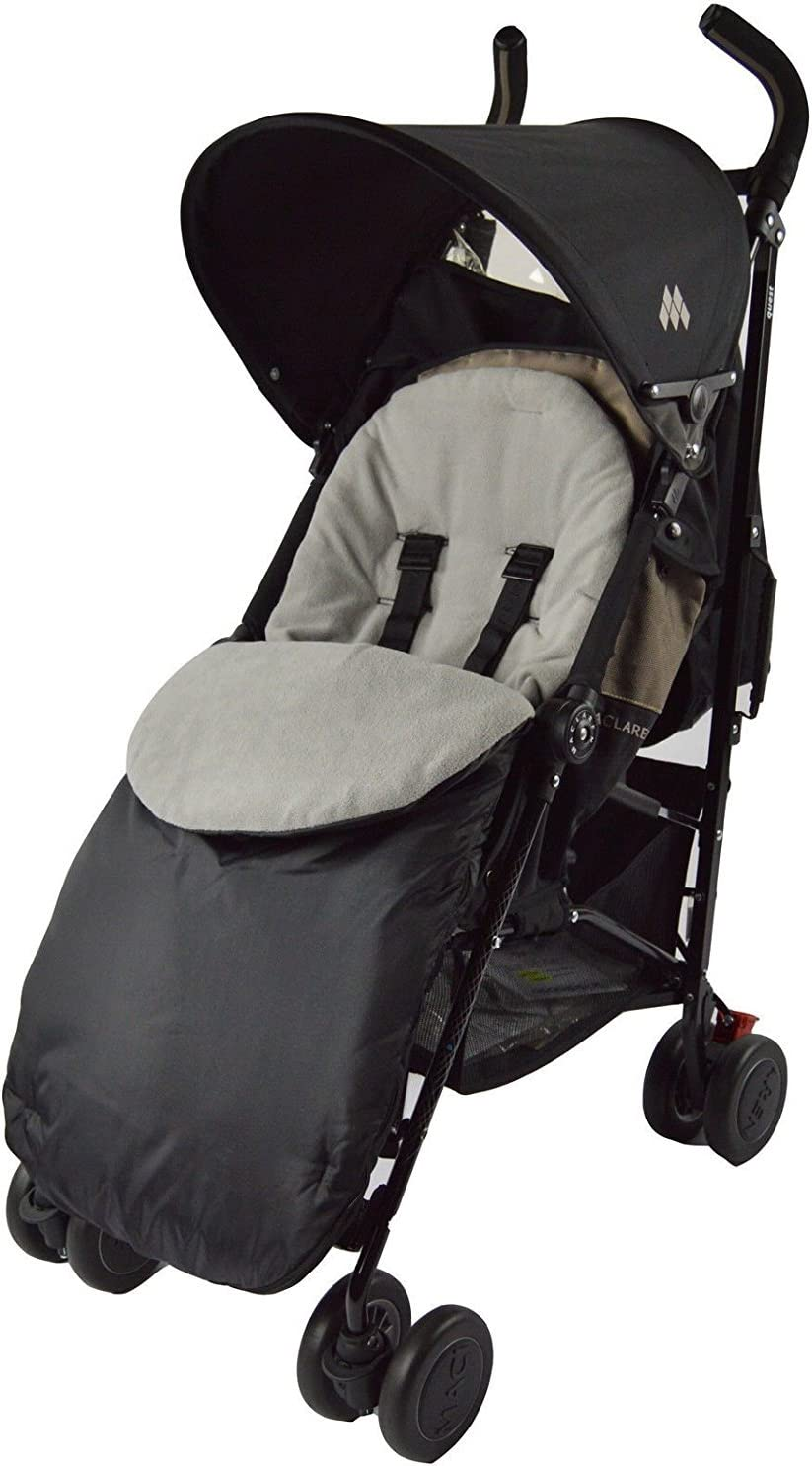 Dimple Pushchair Footmuff//Cosy Toes Compatible with Hauck Malibu Grey