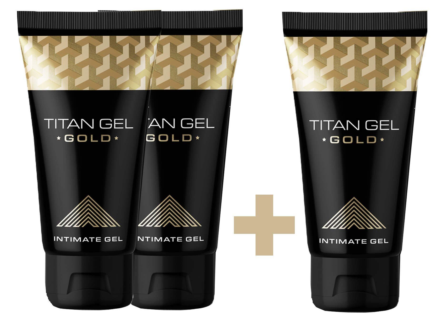 Titan Gel – Intimate Gel for Men – Increasing Gel – Gold Version - 2+1 - by Hendel's Garden
