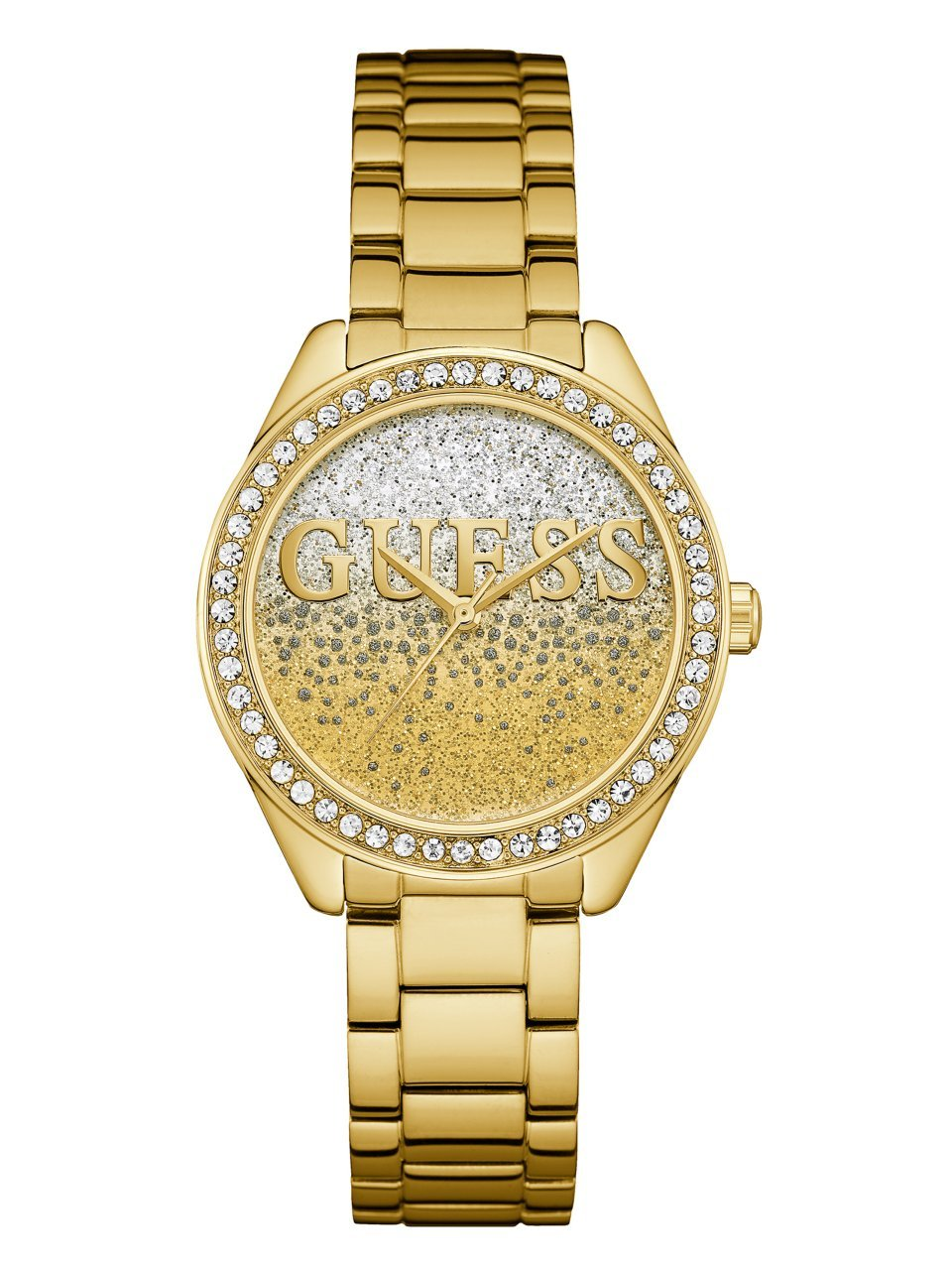 GUESS Women's Quartz Stainless Steel Casual Watch, Color:Gold-Toned (Model: U0987L2) by GUESS