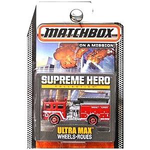 Matchbox Supreme Hero Collection Pierce Dash Fire Truck Engine Aurora Red
