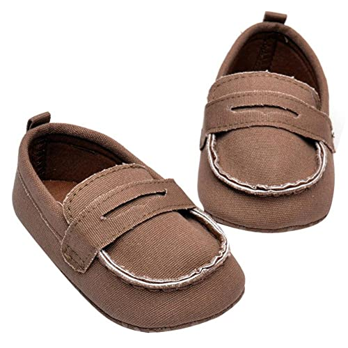 80e2ddb6cdc Rrimin Boy Shoes First Walkers Infant Toddler Footwear(Dark Coffee)(11cm)