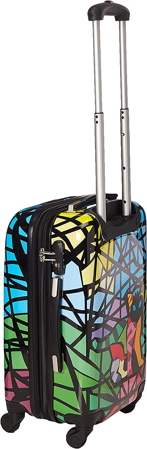 Chariot Hardside 20 Lightweight Spinner Carry-On Luggage-Stained Glass Cat