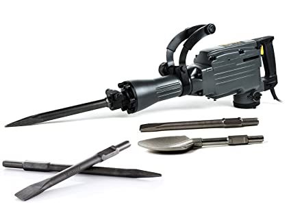 TR Industrial juego gato eléctrico martillo con extra pala y cinceles accesorios
