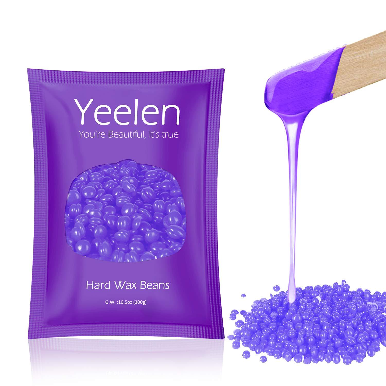 Yeelen Hair Removal Kit Hot Wax Warmer Waxing Kit Wax Melts for Painless Wax of Face, Armpits, Bikini