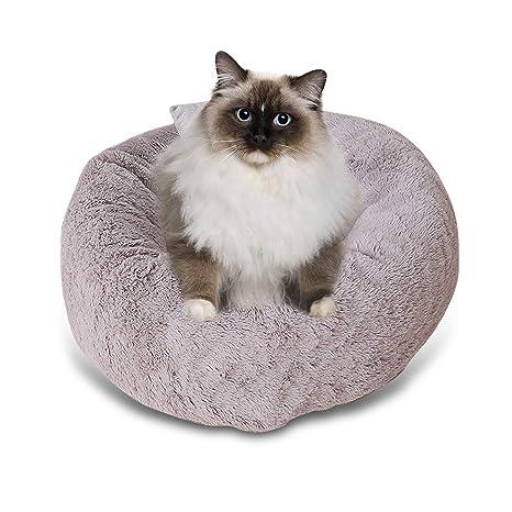 PETCUTE Cama para Perros Pequeños Cama para Gatos Cachorro Redondo Cueva del Gato Nido de Gato Suave de Peluche Pequeño