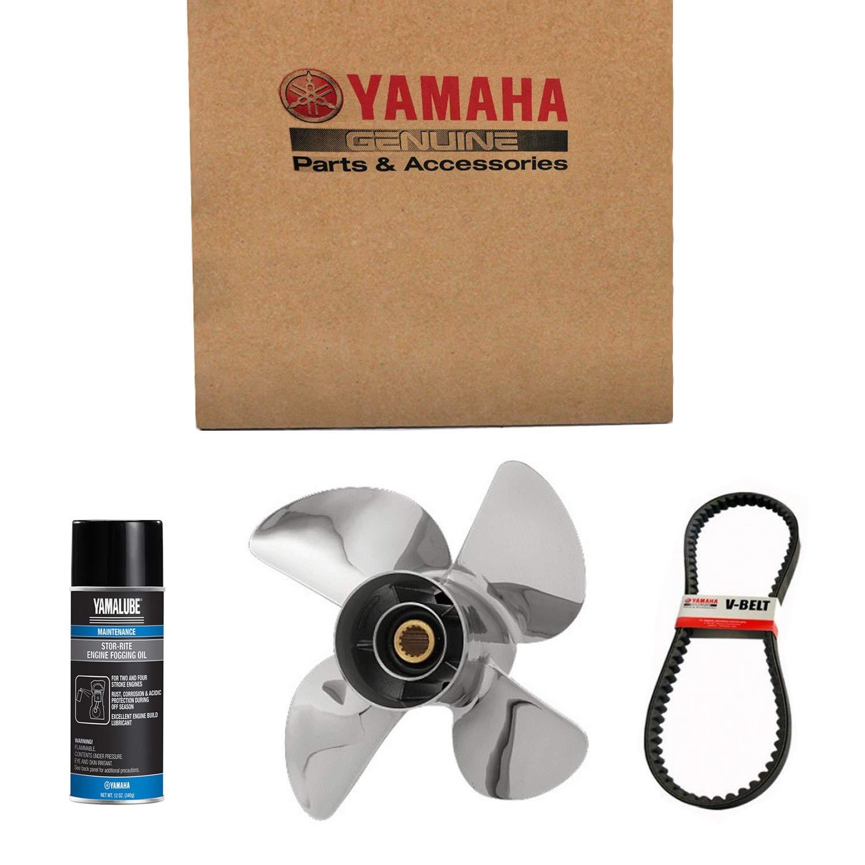 Yamaha 664-45945-00-EL Propeller (3X9-7/8 X10-1/2 -F); New # 664-45945-00-00 Made by Yamaha by Yamaha Marine