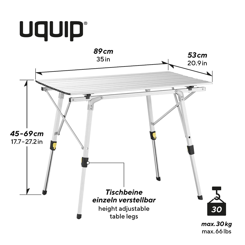 aluminio Mesa para acampada Uquip Variety M 89 x 53cm altura regulable