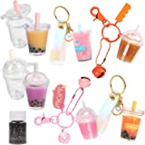 Miniature Bubble Tea Epoxy Resin Casting Kits Key Chain Earring Pendant Charms Jewelry Making Supplies Height 1.3inch