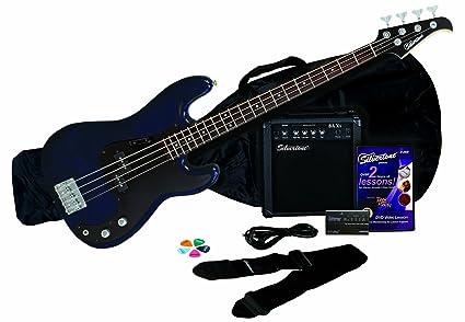 Silvertone LB11 Bass Amp Package Cobalt Dark Blue