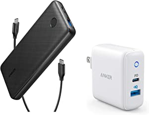 Anker Portable Charger Bundle, PowerCore Essential 20000 PD USB-C Portable Charger and PowerPort PD 2 30W Fast Charger for iPhone 11/11 Pro/11 Pro Max/X/8, Samsung, iPad, and More