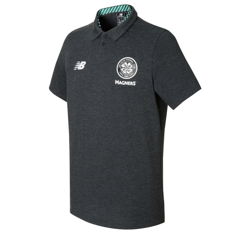 2017-2018 Celtic Motion Training Polo Shirt (Black Marl) B07436TQFL