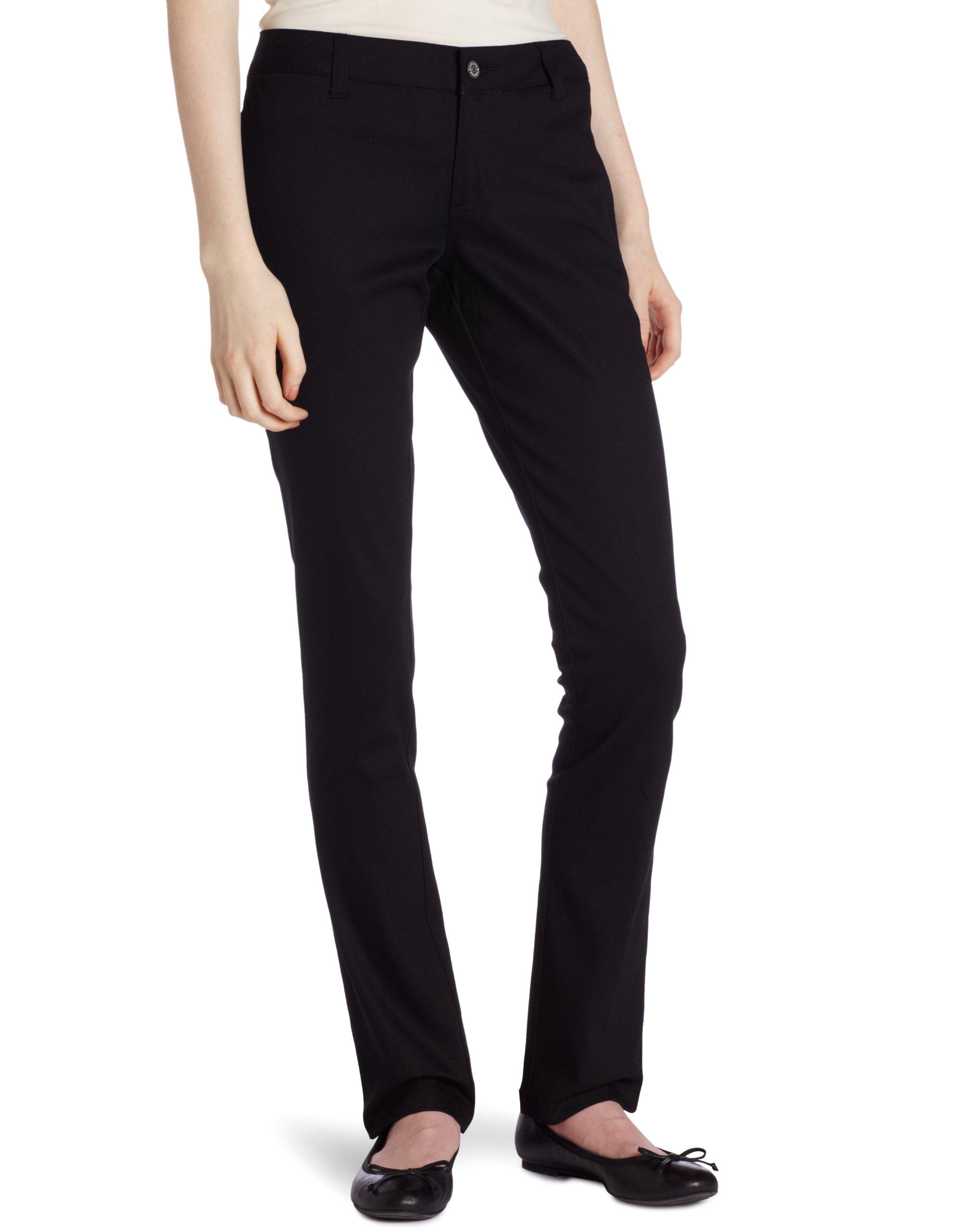 Dickies Girl Junior's Original 4 Pocket Skinny Leg Pant, Black, 11 by Dickies Girl