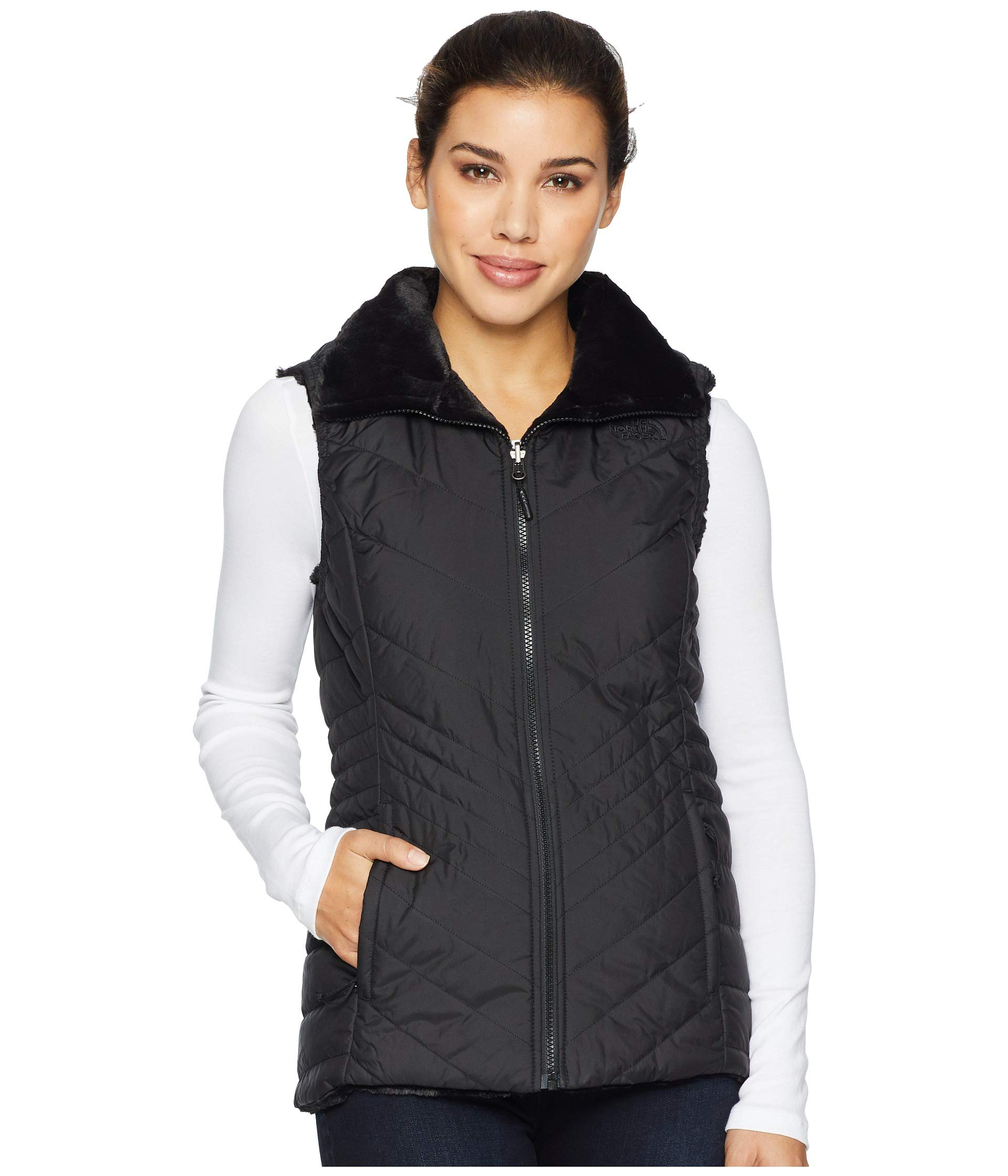 The North Face Women's Mossbud Insulated Revesible Vest - TNF Black - XL by The North Face