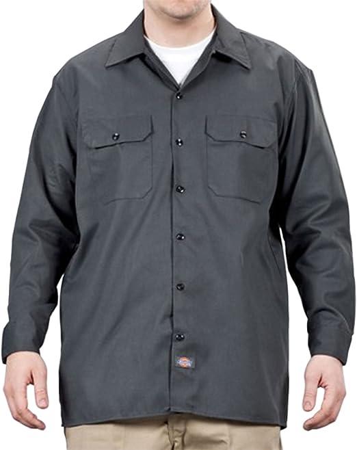 Dickies Camisa de trabajo con manga larga Gris Oscuro DICKIES574CH: Amazon.es: Ropa y accesorios