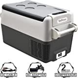 Setpower AJ30 32 Quarts Portable Freezer Fridge 12V Cooler, 0℉-50℉, DC 12/24V, AC 110-240V, Car Fridge Compact…