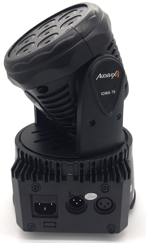 c27be9dd953 DMX Master/Esclavo Cabeza Móvil Discoteca Wash 7 Led 8W Potencia entregada  100W DMX512 Audibax 4 en 1 RGBW
