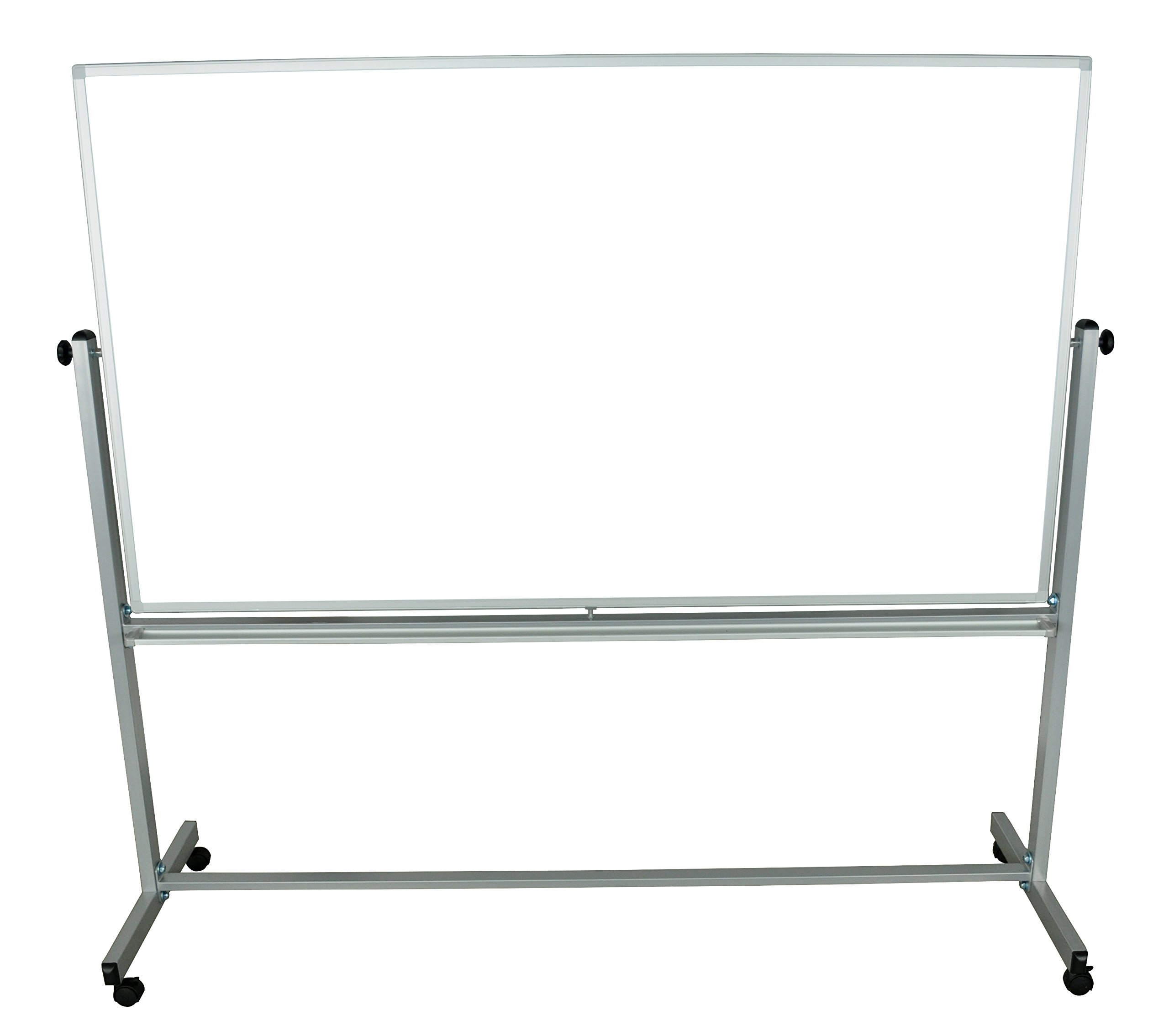"""Generic 1 Pack 72""""W x 40""""H Double Sided Dry Erase Magnetic Whiteboard"""