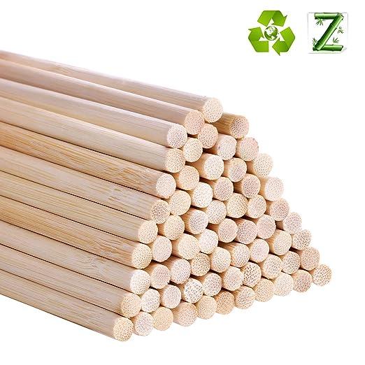 Varitas de madera natural para manualidades 100 unidades
